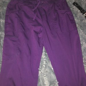 Purple scrub pants